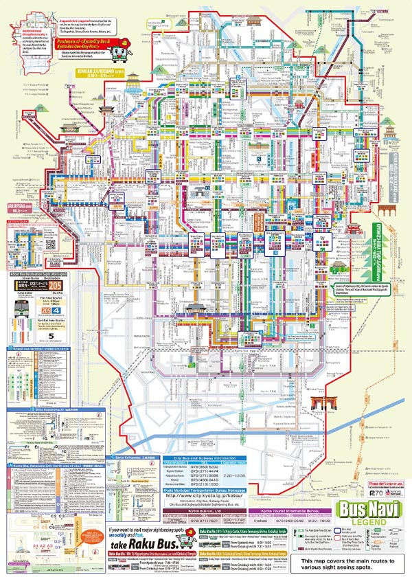 kyoto bus map