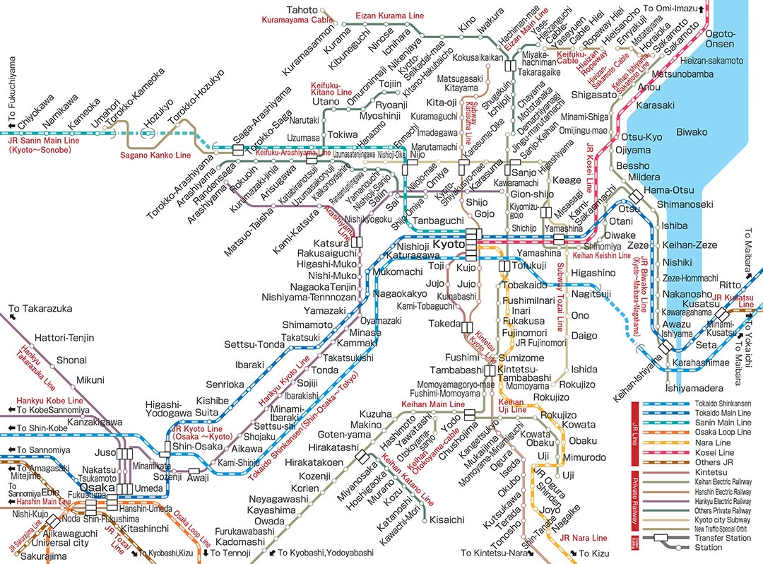 Subway Map Kyoto.Kyoto Tourism And Travel Guide Wonderful Japan