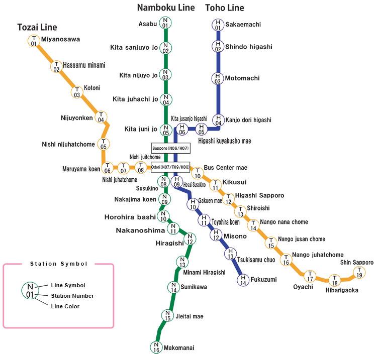 sapporo subway map