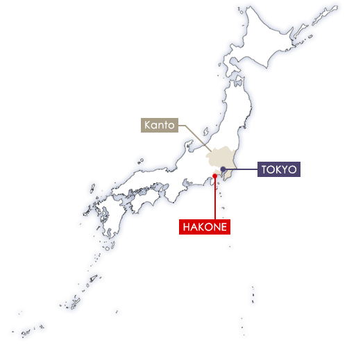 Hakone in Japan map