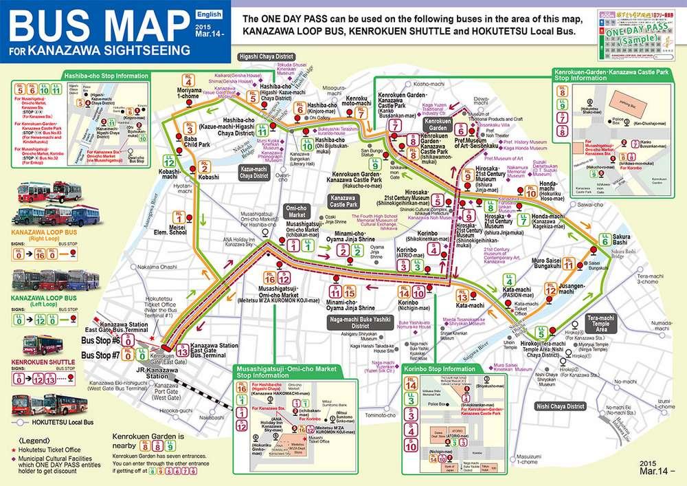 kanazawa bus map