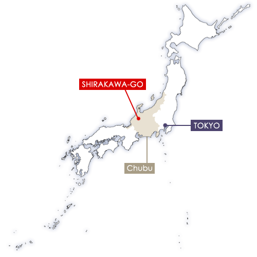 Shirakawa-go in Japan map