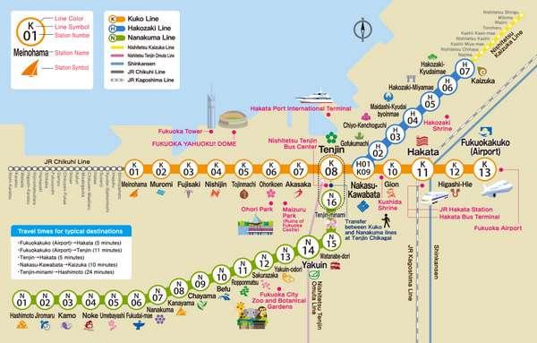 fukuoka subway route map