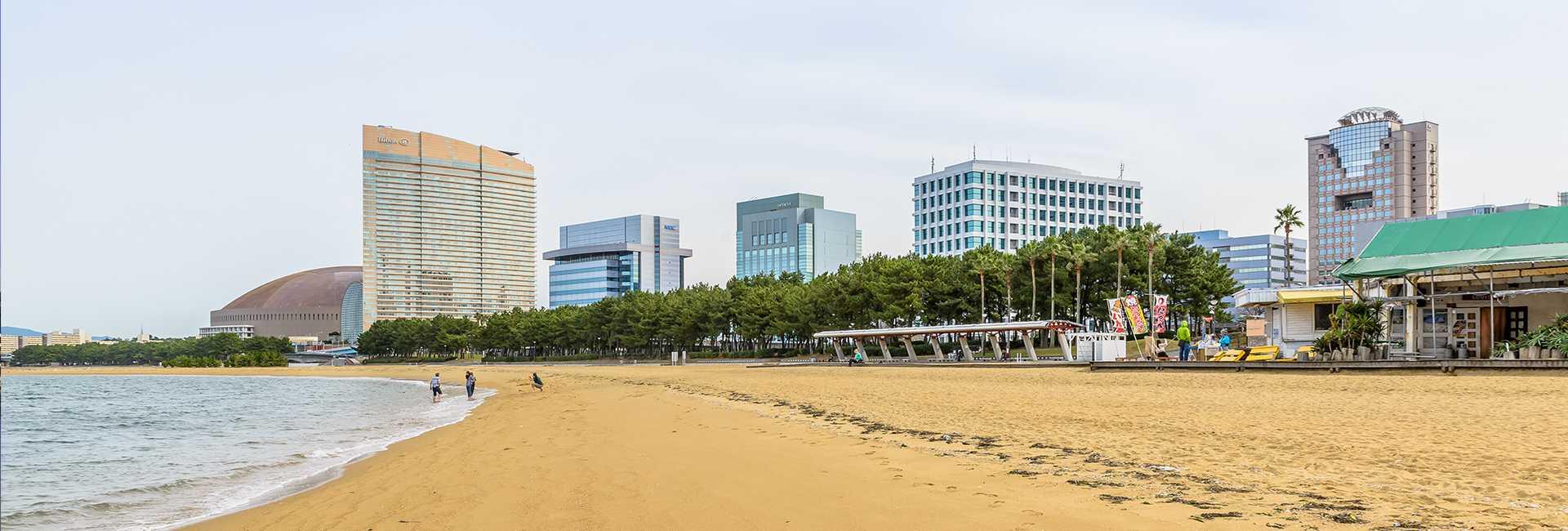 a beach in Fukuoka