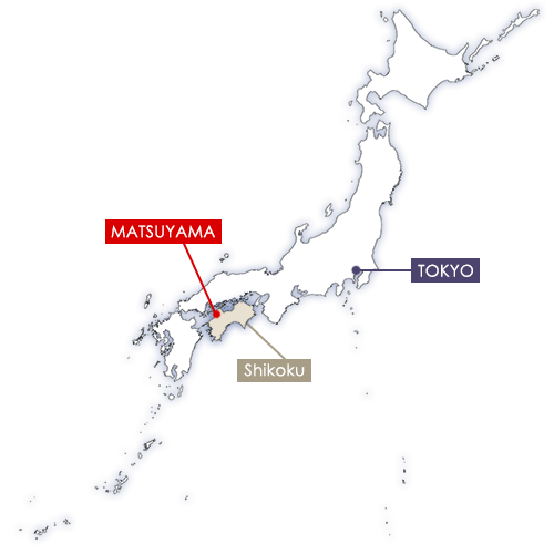 Matsuyama in Japan map