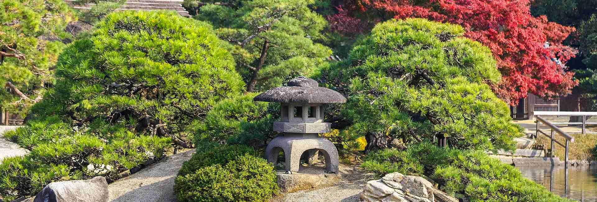 Kenrokuen garden in Okayama, Japan
