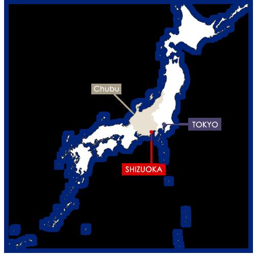 Shizuoka in Japan map