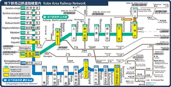 kobe subway route map