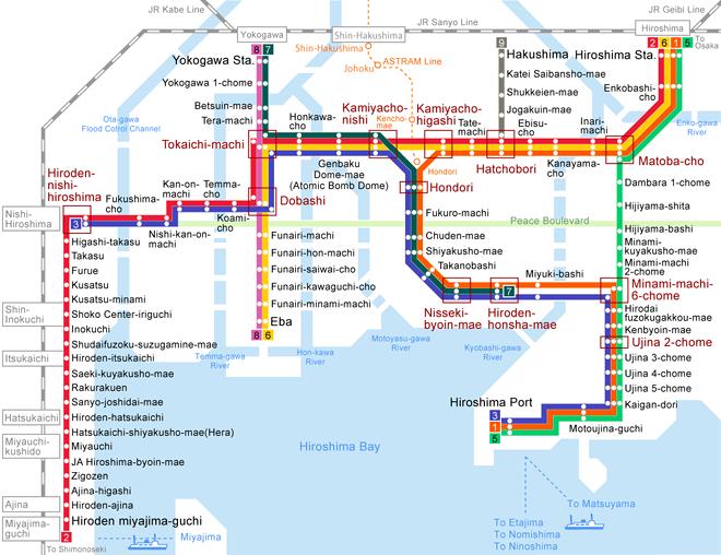 carte tramway hiroshima