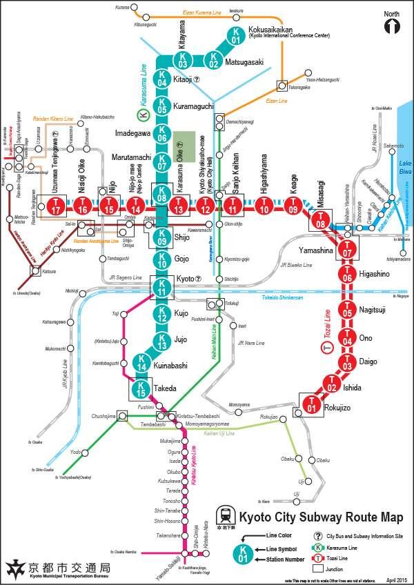 carte du métro de Kyoto