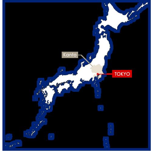 tokyo sur la carte du Japon