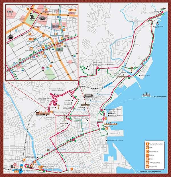 carte du bus kagoshima
