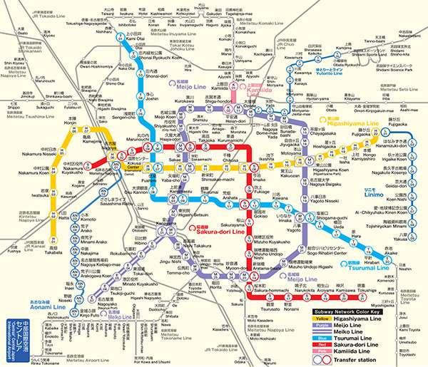 carte du métro osaka