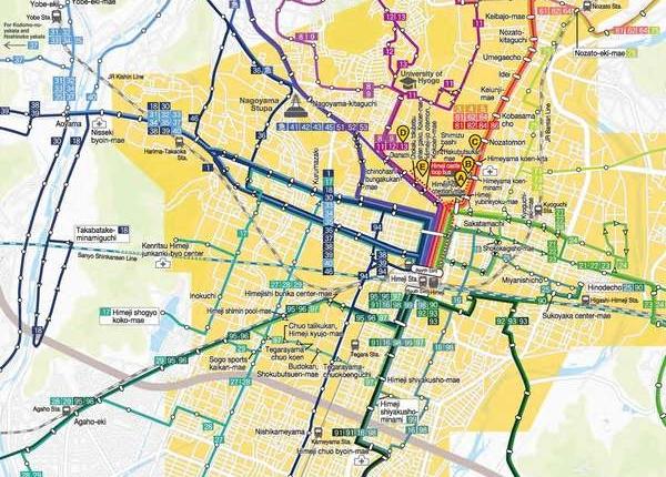 carte des transports de himeji