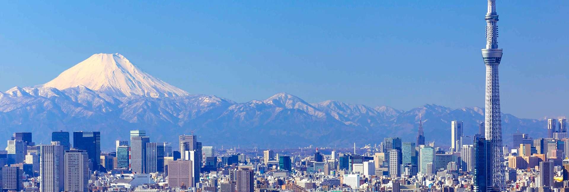 Vue de Tokyo avec le mont Fuji
