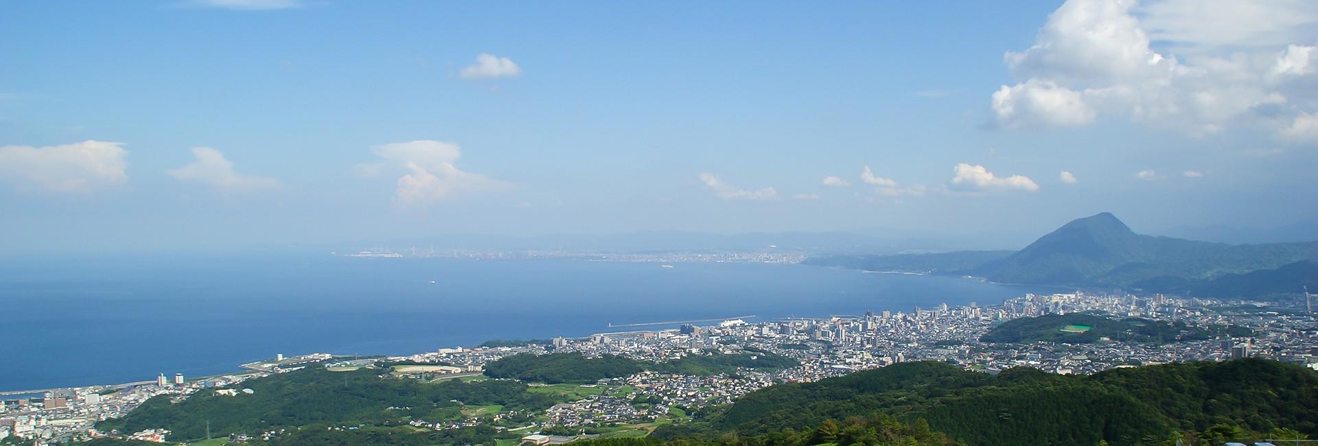 vue de Beppu au Japon