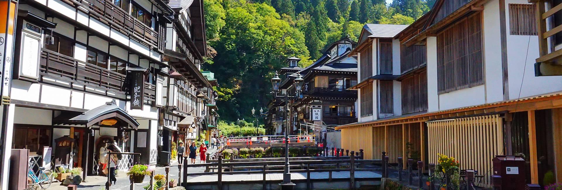Ginzan Onsen au Japon