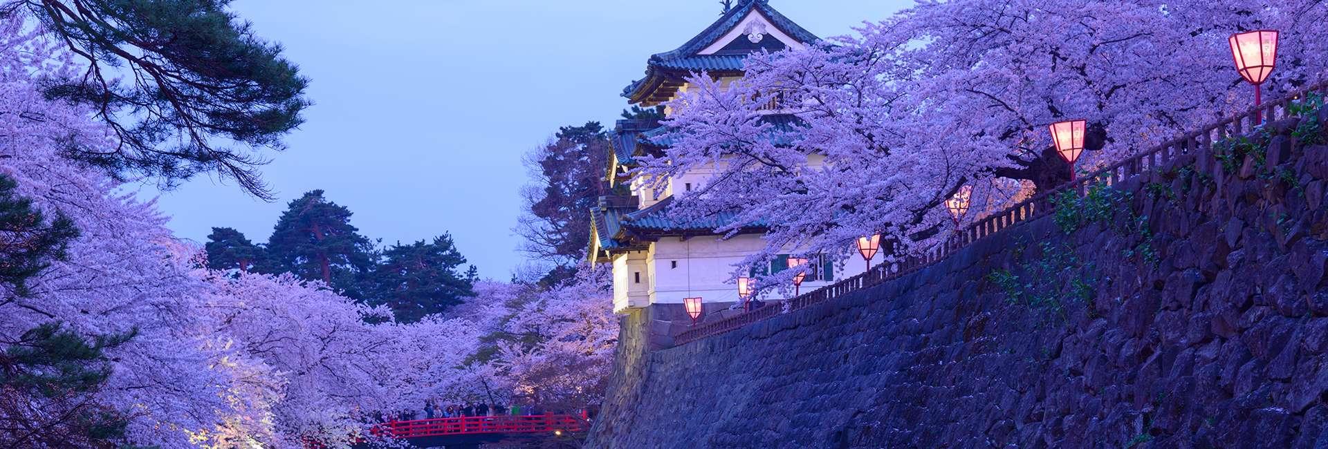 le Château de Hirosaki au Japon