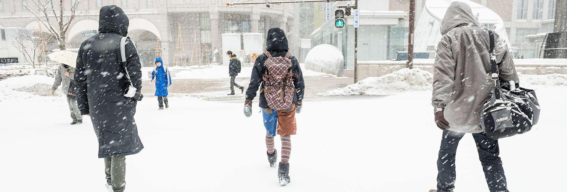 Sapporo en hiver sous la neige