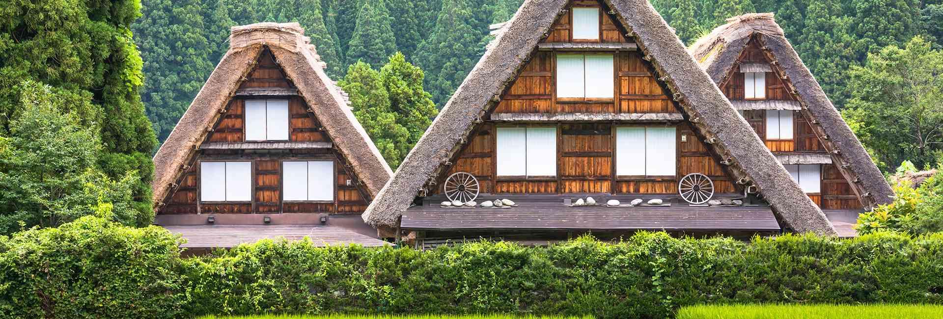 maisons traditionnelles à Shirakawa-go