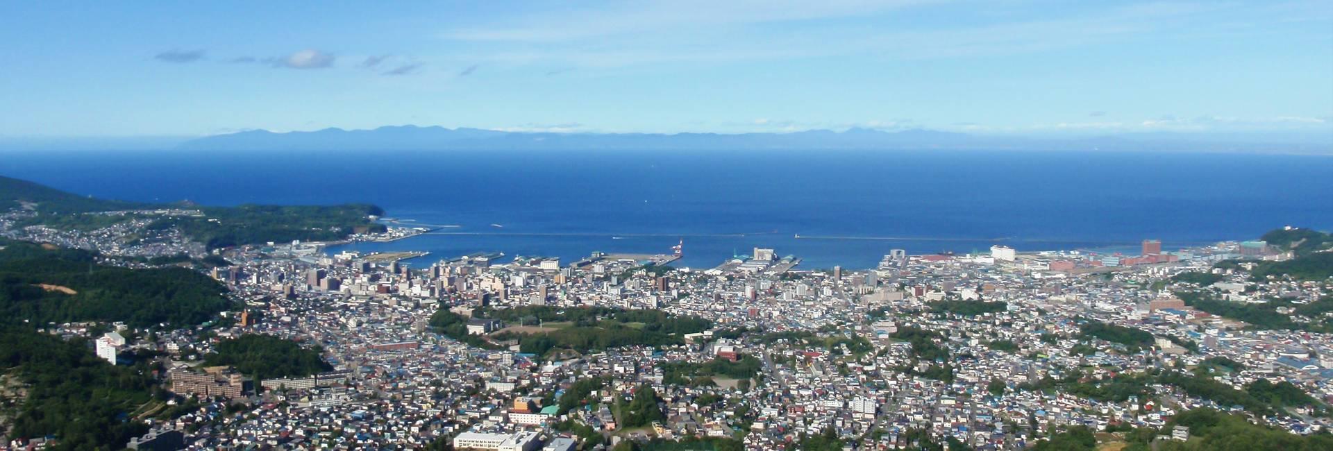 vue de la ville de Otaru