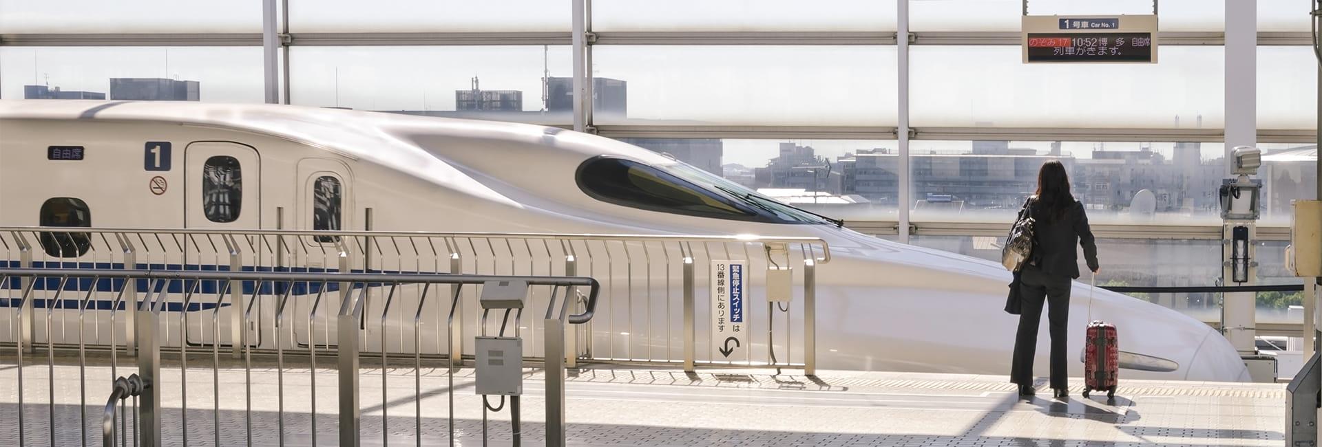 shinkansen en gare