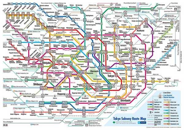 mappa della metropolitana di tokyo
