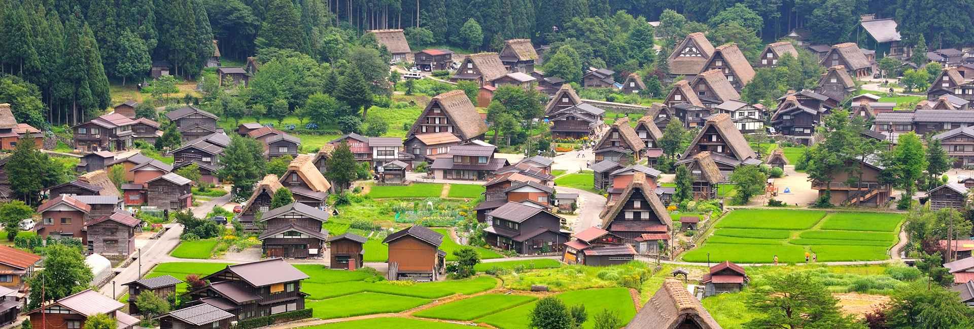 Shirakawa-go in estate